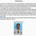 Bacaleg Dapil III Mulyo Sutiono Umumkan Dirinya Pernah Terlibat Kasus Pidana