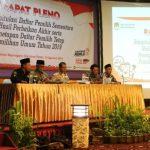 KPU Bojonegoro Gelar  pleno Penetapan DPT Pemilu 2019