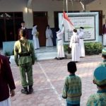 Santri dan Ustad Madrasah Diniyah Miftahul Huda pun Gelar Upacara Hari Proklamasi