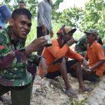 TMMD Tahlil dan Nyruput Kopi Bareng Rakyat