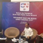 Survey  Cyrus Network : Jokowi Maruf Amin Unggul 20 Persen Atas Prabowo Sandiaga Uno