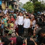 Menang 16.957.123 Suara, Jokowi Maruf Amin Deklarasi Kemenangan di Kampung Deret