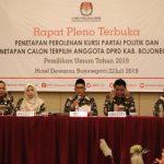KPU Tetapkan Perolehan Kursi Parpol dan Anggota DPRD Bojonegoro Terpilih Periode 2019 – 2024