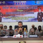 Kapolres Tuban Beri Motivasi Kesembuhan Pada Pasien Covid