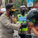Polres Bojonegoro Aktif Kampanyekan Pemakaian Masker